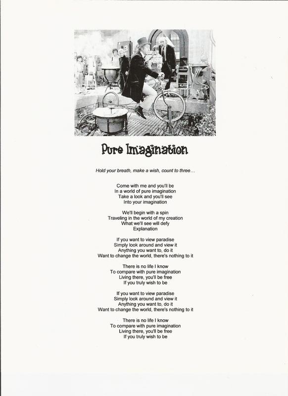 WILLY WONKA - PURE IMAGINATION LYRICS